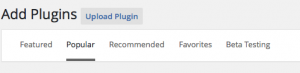 Plugin categories