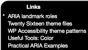 Screen-reader: Links navigation panel: useful link text
