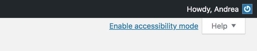 enable accessibility mode link visible