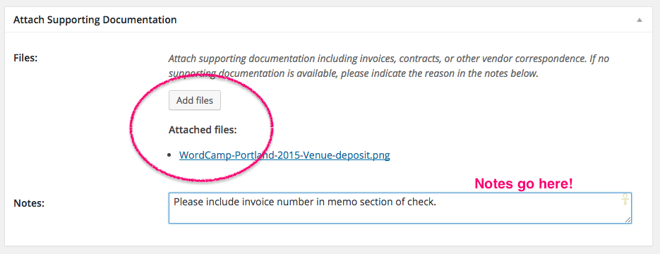 Vendor Payments Make WordPress Communities - Submitting invoices for payment