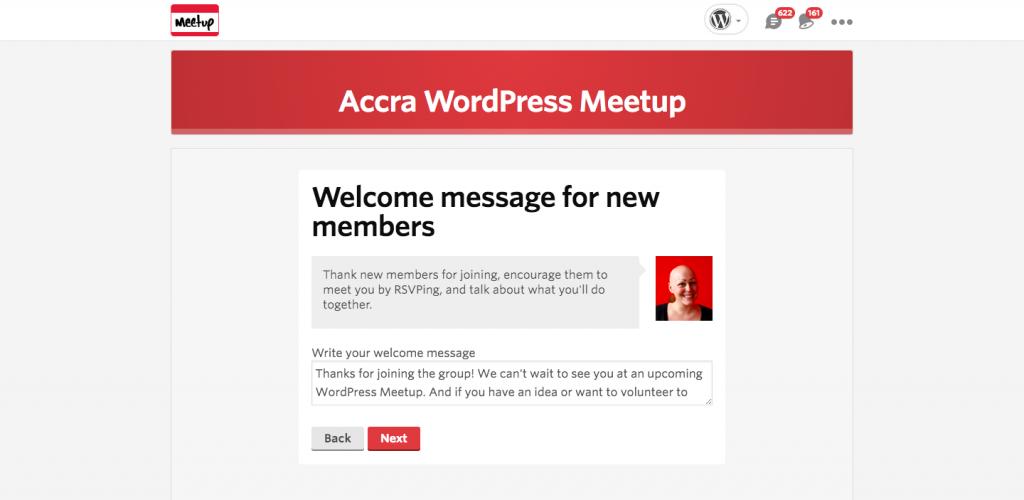 Crear un Grupo de Meetup Paso 9