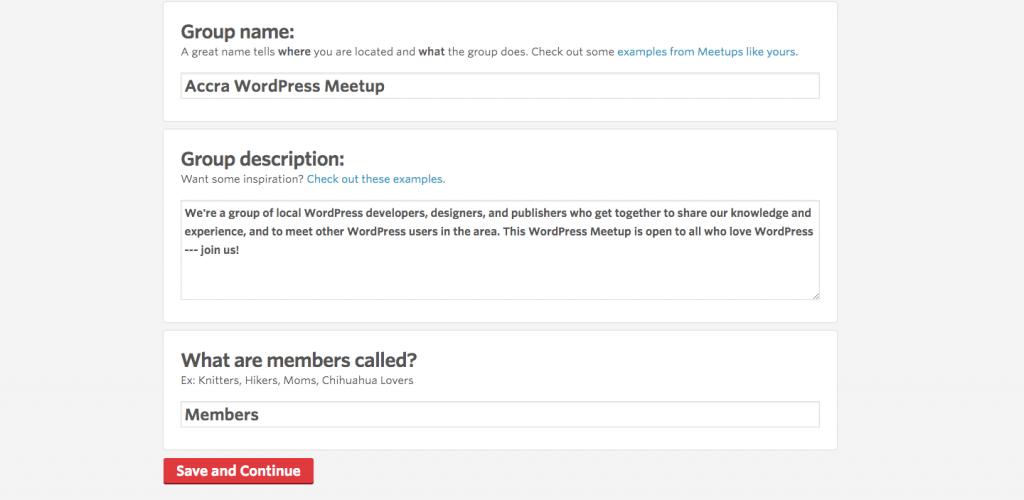 Crear un Grupo de Meetup Paso 6