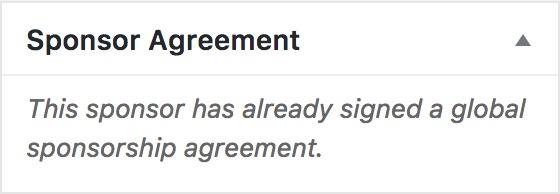 Uploading Sponsorship Agreements Make WordPress Communities – Sponsorship Agreement