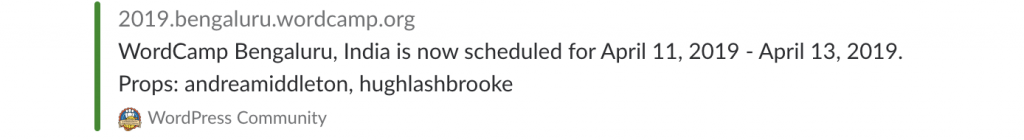 (screenshot for when WordCamp is scheduled)