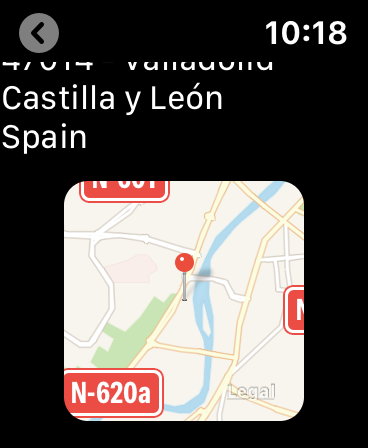 The proposed WordCamp app for iOS displaying a map of the venue