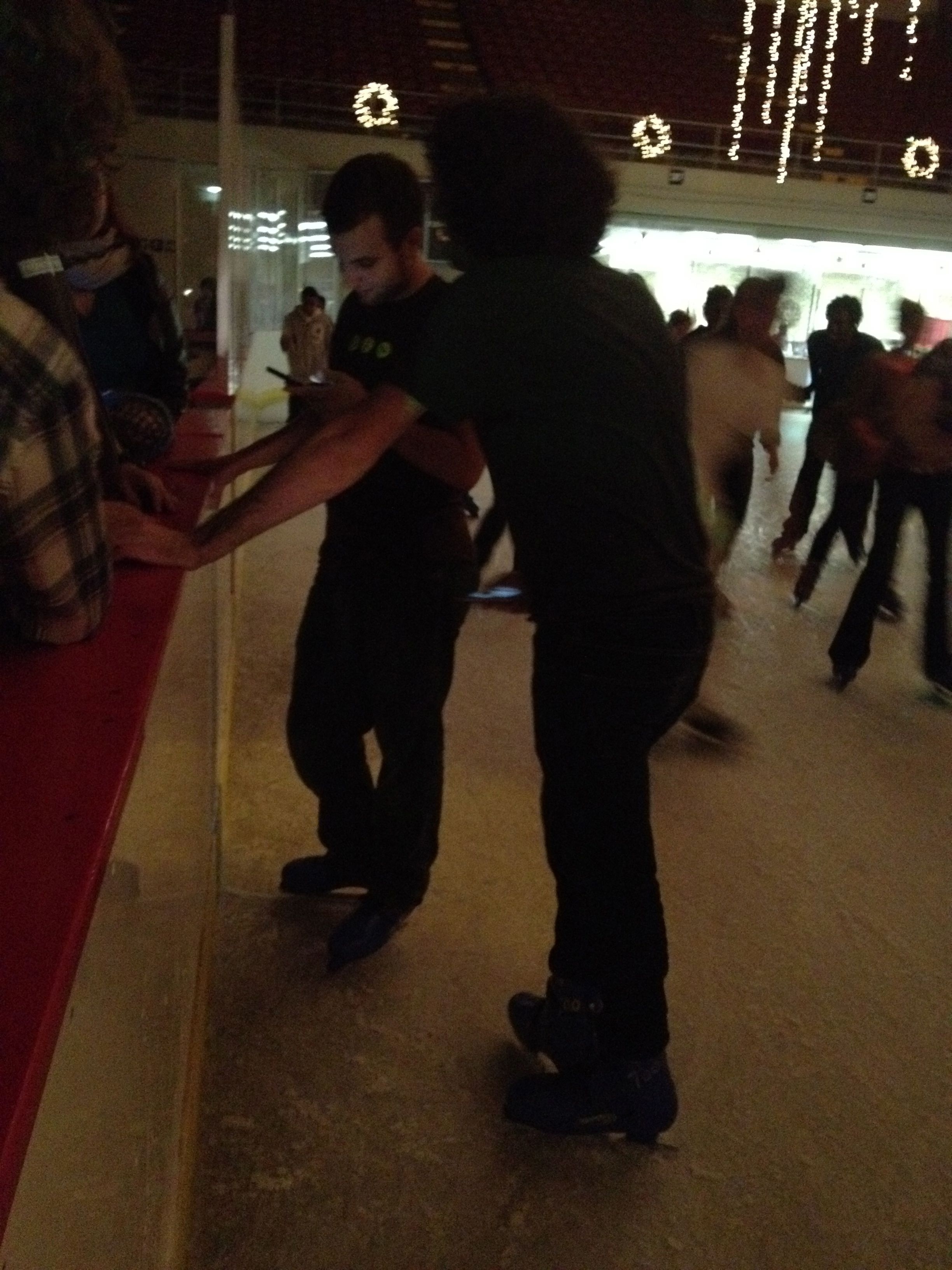 Nacin and Koop on skates