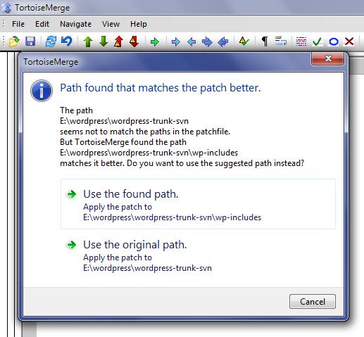 TortoiseSVN Wrong Directory Screen