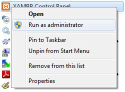 Run XAMPP As Administrator