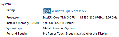 Windows 7 System Type Settings