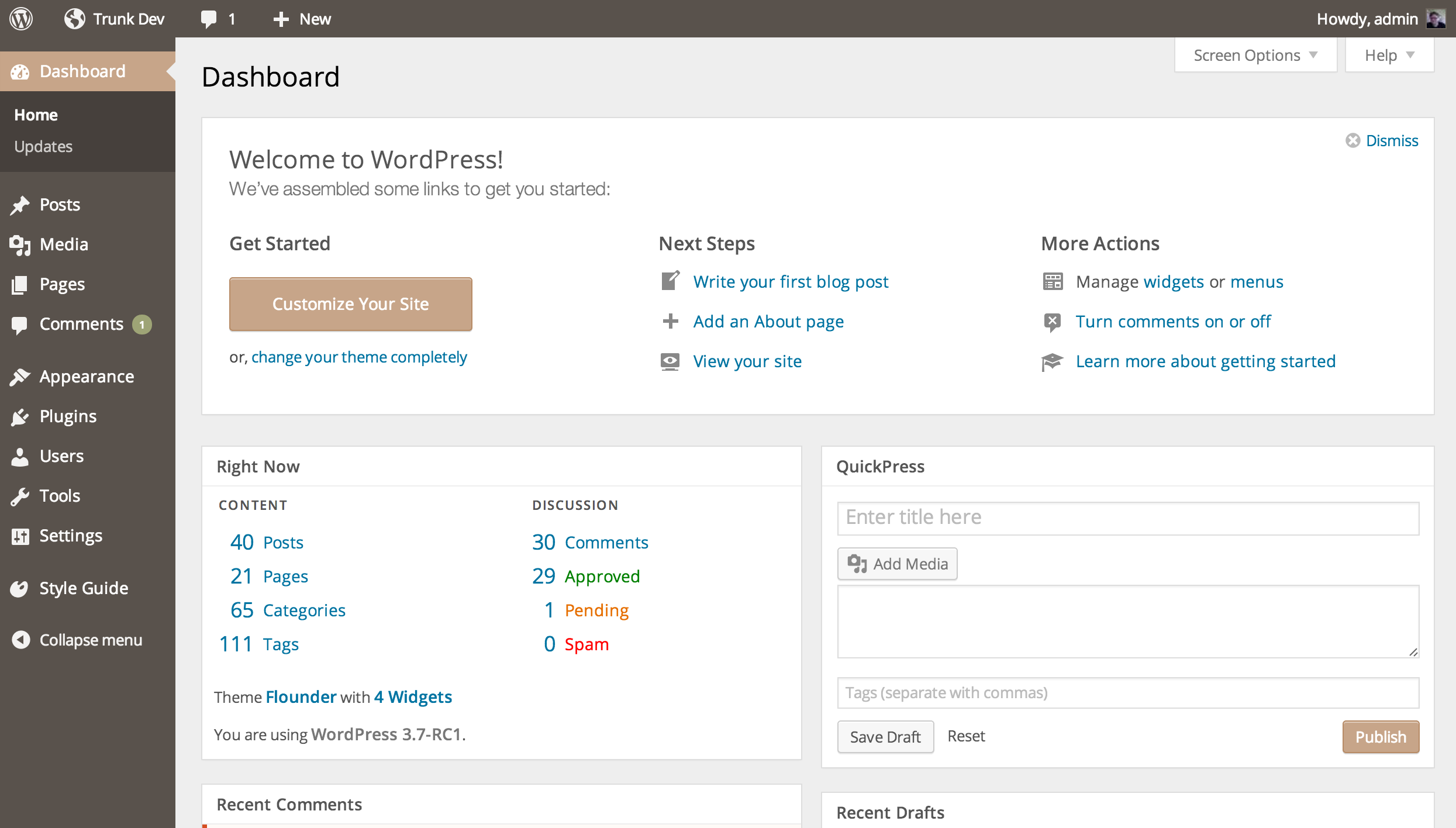 core plugins – Make WordPress Core