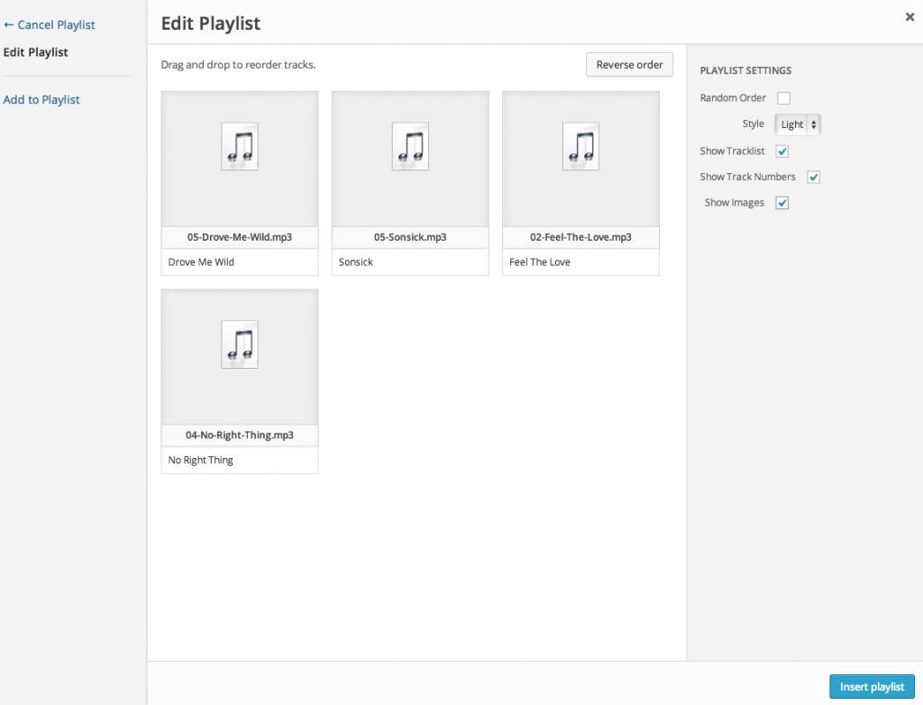 Playlist Settings