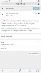 customize menus details