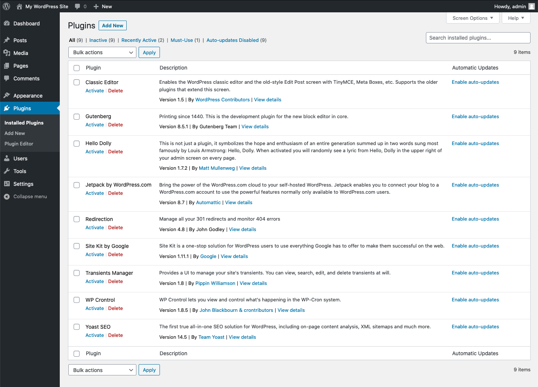 Controlling Plugin And Theme Auto Updates Ui In Wordpress 5 5 Make Wordpress Core