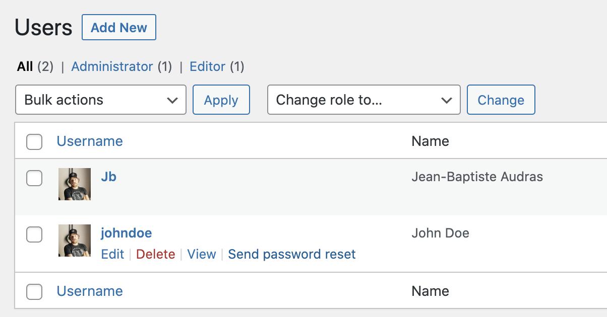 Send reset password links in WordPress5.7
