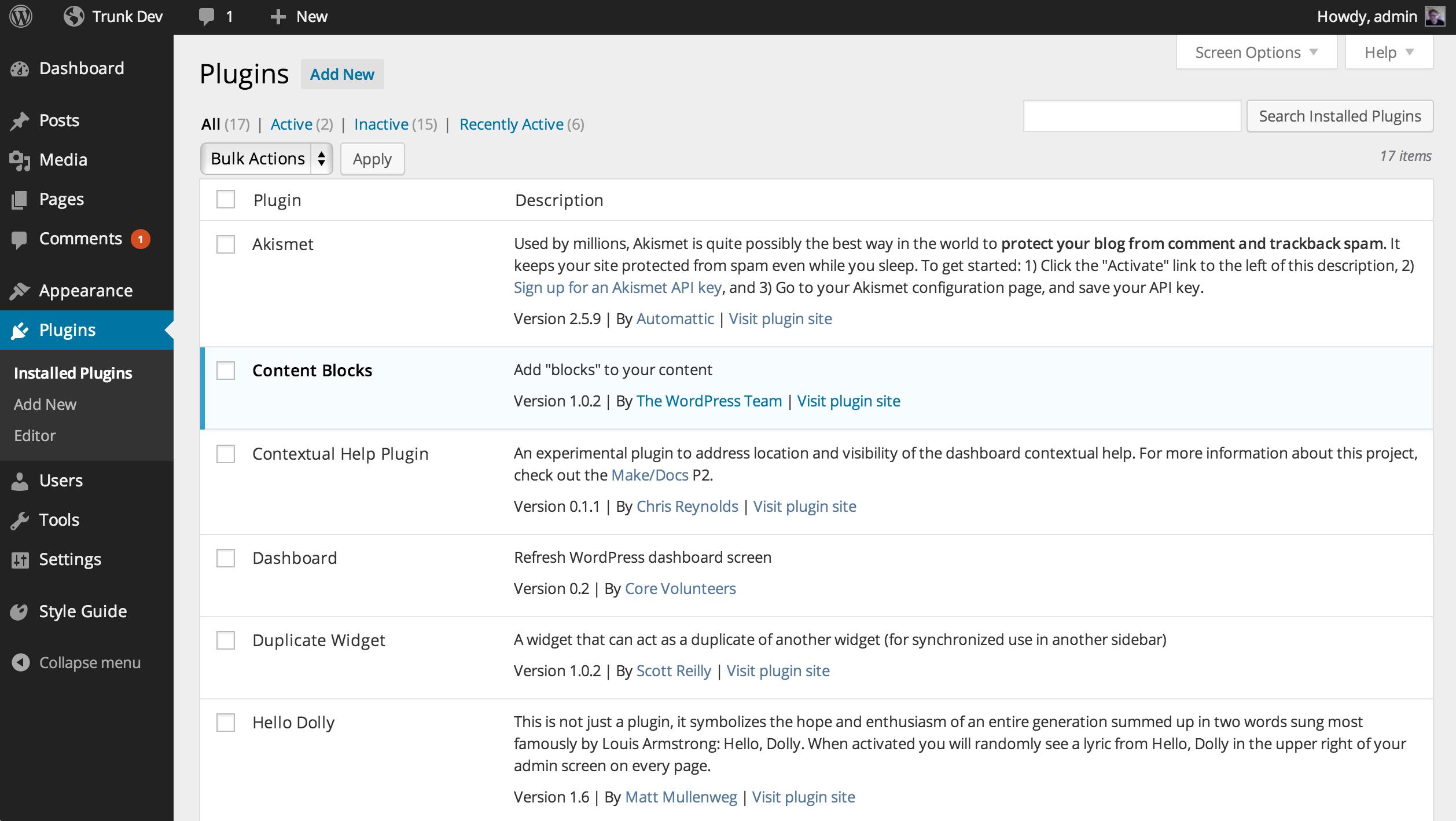 3 8 Make Wordpress Core