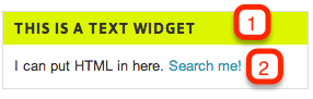 A widget as it appars to a site visitor.