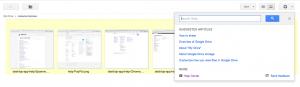 Screenshot of Google Drive Help Search Feature