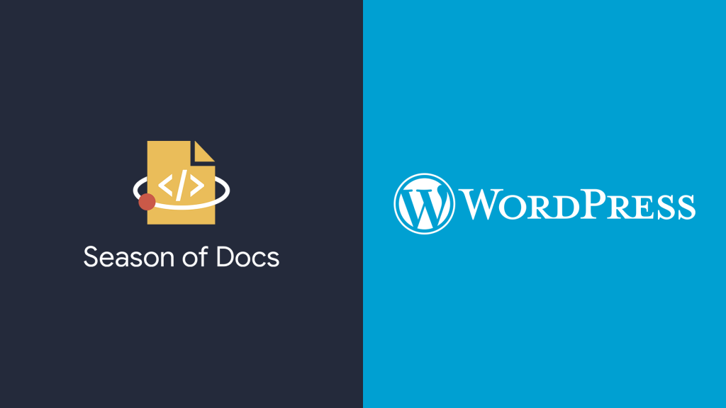Google Season of Docs logo, WordPress logo