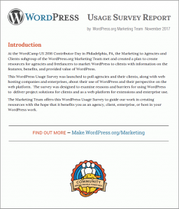 WordPress Usage Survey Report