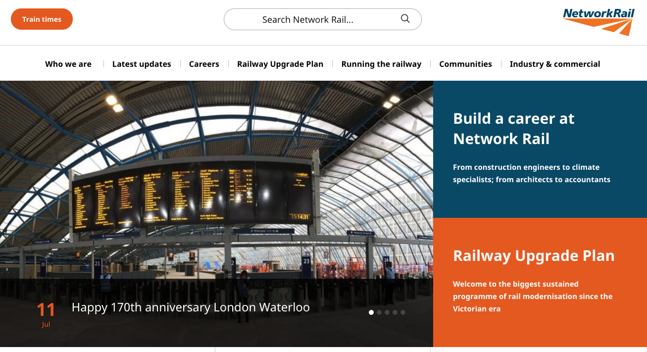 Network Rail A Wordpress Case Study Make Wordpressorg Marketing
