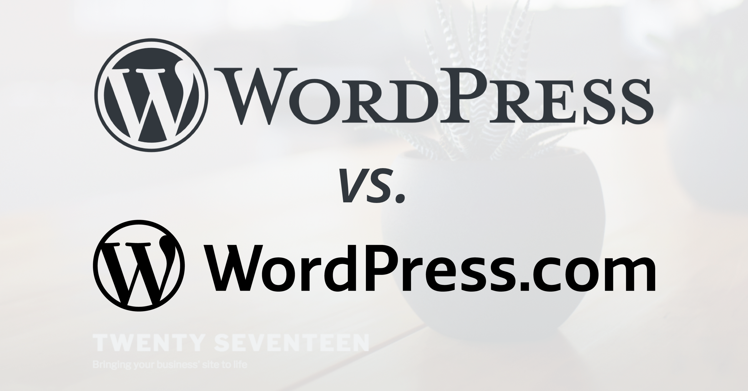 You've heard of WordPress, but you may be confused by WordPress.org and WordPress.com. Dot com is hosting and dot org is the CMS. Let's chat more.