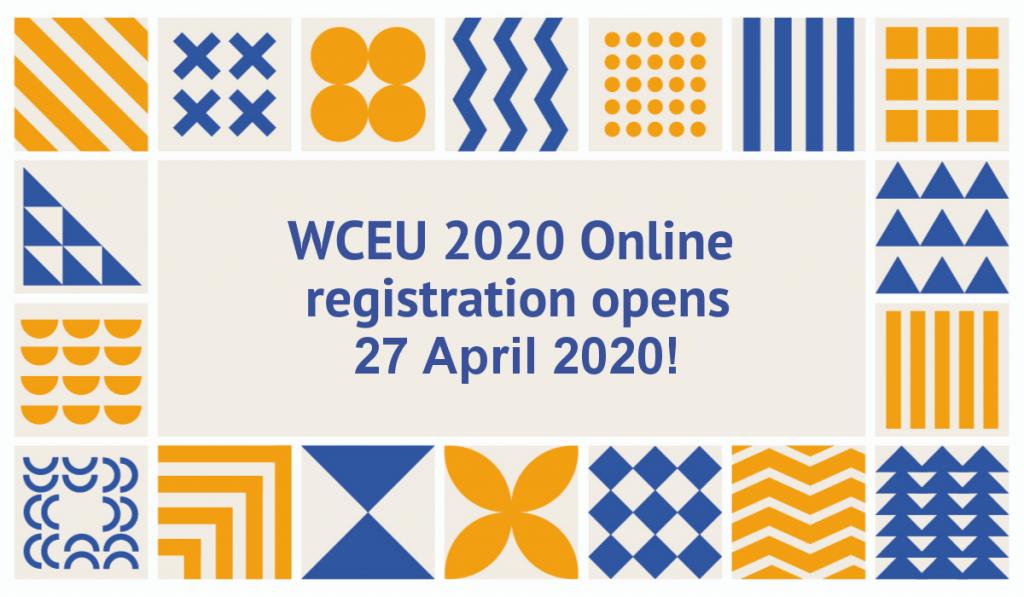 WCEU 2020 online registration opens 27 April 2020
