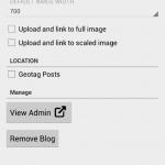 View Admin moved to Settings.