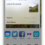 Share media to the WordPress app