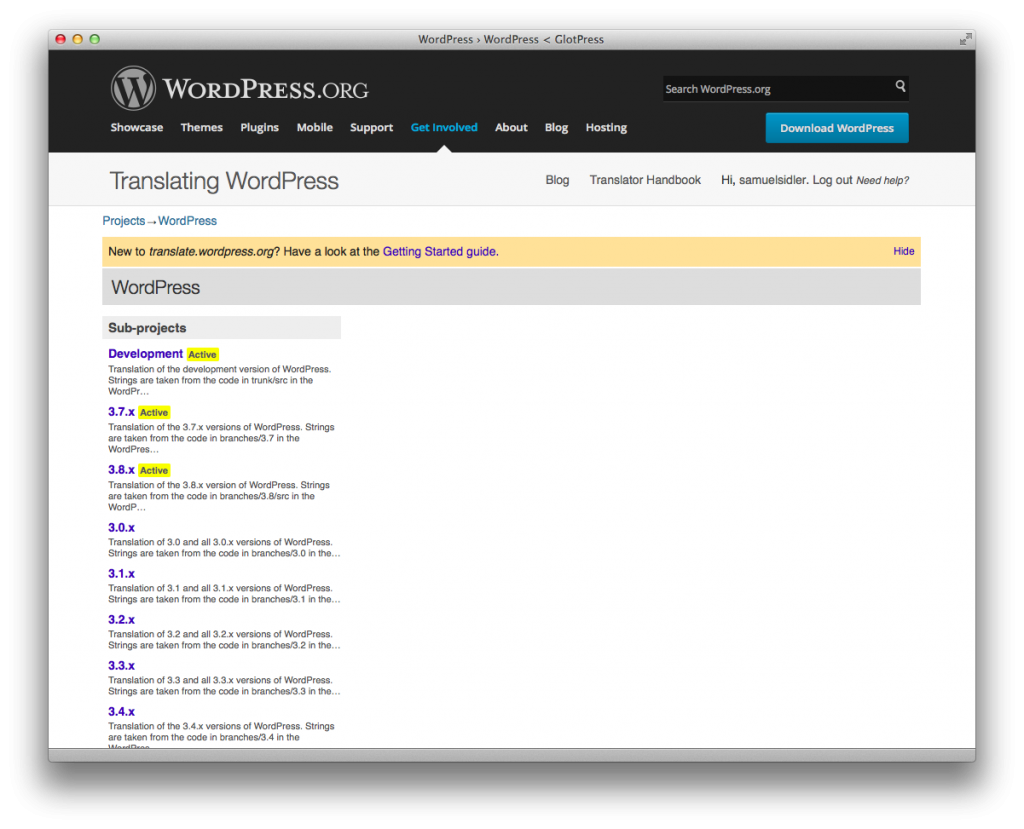 "translate.wordpress.org ""WordPress"" project sub-project list"