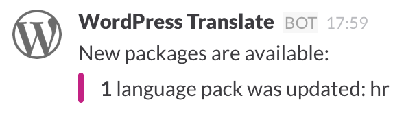 A new language pack was built.
