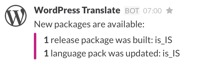 A new release package was built.