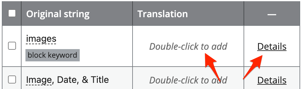 Select a string to translate