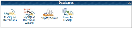 the mysql databases icon