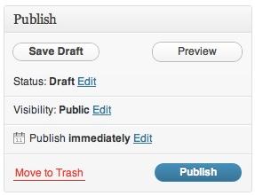 the publish meta box